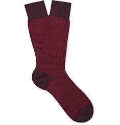 Pantherella Finsbury Herringbone Merino-Wool Blend Socks