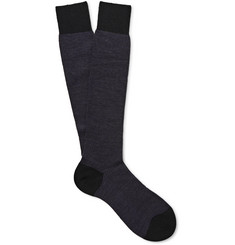Pantherella Blenheim Merino Wool-Blend Over-the-Calf Socks