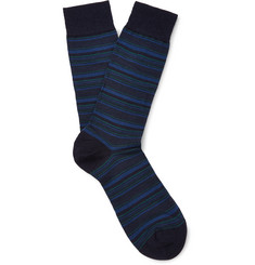 Pantherella Stannard Striped Wool-Blend Socks