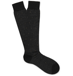 Pantherella - Blake Escorial Wool-Blend Jacquard Over-the-Calf Socks