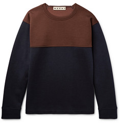 Marni Oversized Colour-Block Virgin Wool-Blend Sweatshirt