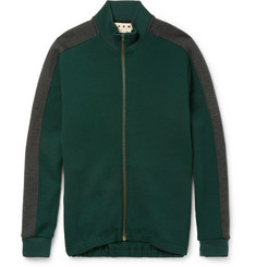 Marni - Wool-Blend Jersey Zip-Up Sweatshirt