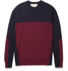 Marni Slim-Fit Colour-Block Cashmere Sweater