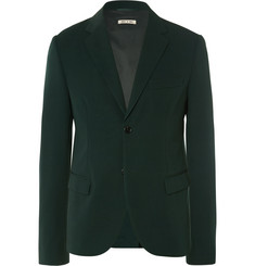 Marni Green Slim-Fit Wool Blazer