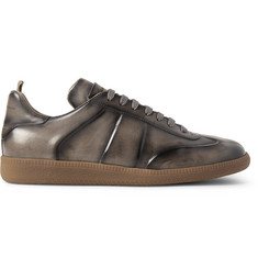 Officine Creative Germain Polished-Leather Sneakers