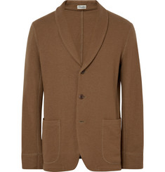 Camoshita Brown Slim-Fit Unstructured Wool Blazer
