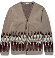 Camoshita Jacquard-Knit Wool and Cashmere-Blend Cardigan