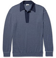 Camoshita - Striped Knitted Wool and Cashmere-Blend Polo Shirt