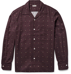Camoshita Slim-Fit Camp-Collar Printed Twill Shirt
