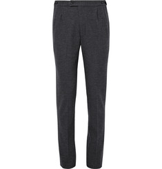 Camoshita - Grey Slim-Fit Wool-Flannel Trousers