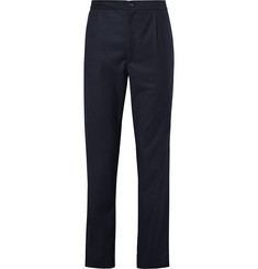Camoshita Houndstooth Wool-Blend Trousers