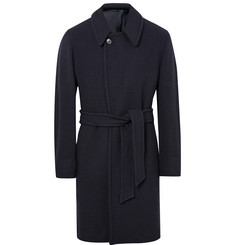 Camoshita Checked Wool-Blend Coat