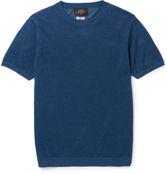 Beams Plus Slim-Fit Knitted Linen T-Shirt