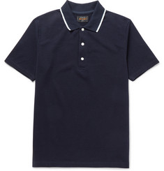 Beams Plus Slim-Fit Contrast-Tipped Cotton-Piqué Polo Shirt