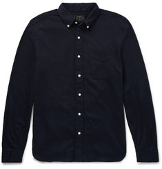 Beams Plus Slim-Fit Button-Down Collar Cotton-Jersey Shirt