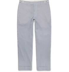 Beams Plus Slim-Fit Striped Seersucker Trousers