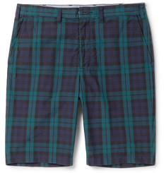 Beams Plus Slim-Fit Checked Cotton Shorts