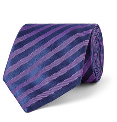 Charvet - 8cm Striped Silk-Jacquard Tie