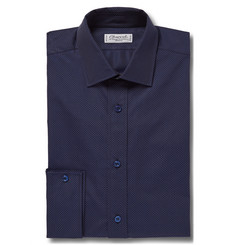 Charvet Blue Slim-Fit Pin-Dot Cotton Shirt
