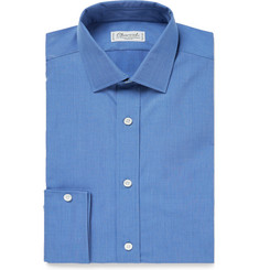 Charvet Blue Slim-Fit Cotton Shirt