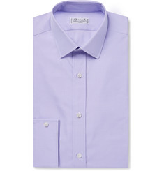 Charvet Purple Slim-Fit Cotton-Twill Shirt