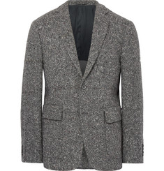 Wooster + Lardini Grey Slim-Fit Wool-Blend Tweed Blazer