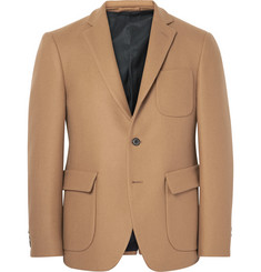 Wooster + Lardini Brown Slim-Fit Wool Blazer
