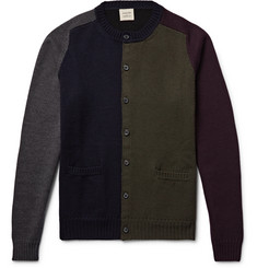 Wooster + Lardini Colour-Block Wool Cardigan