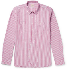 Wooster + Lardini - Striped Cotton Oxford Shirt