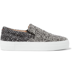 Wooster + Lardini Tweed Slip-On Sneakers