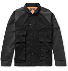 Blackmeans - Two-Tone Cotton-Twill Bomber Jacket