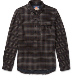 Blackmeans - Checked Cotton-Flannel Shirt