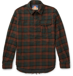 Blackmeans Slim-Fit Checked Cotton-Flannel Shirt