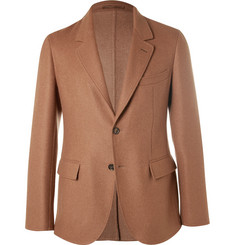 Caruso - Brown Slim-Fit Camel Hair Blazer