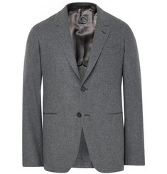 Caruso Grey Butterfly Slim-Fit Wool and Cashmere-Blend Blazer