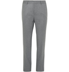 Caruso Grey Wool-Flannel Trousers