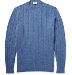 William Lockie - Orwell Cable-Knit Mélange Cashmere Sweater