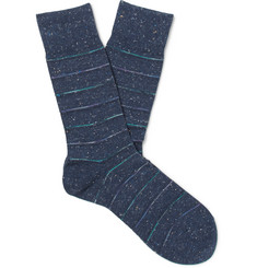 Falke Striped Cotton-Blend Socks