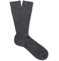 Marcoliani Ribbed Merino Wool-Blend Socks