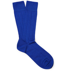 Marcoliani Ribbed Cashmere-Blend Socks