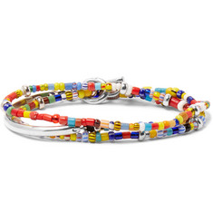 Isaia Saracino Glass and Silver Wrap Bracelet