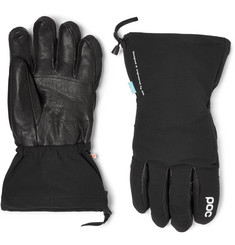 POC  Leather-Panelled Padded Waterproof Gloves