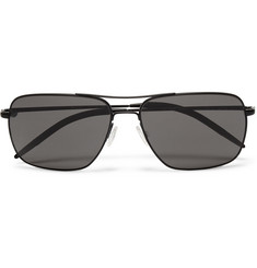 Oliver Peoples Clifton Square-Frame Metal Sunglasses