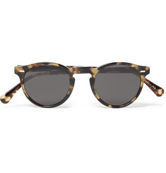 Oliver Peoples Gregory Peck Round-Frame Tortoiseshell Acetate Sunglasse