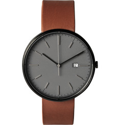 Uniform Wares M40 PVD-Plated Stainless Steel and Leather Watch