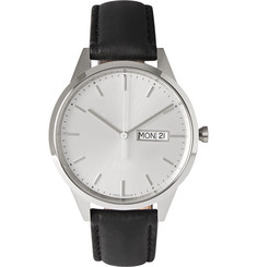 Uniform Wares C40 Stainless Steel and Leather Wristwatch