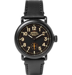 Shinola - The Runwell 36mm PVD-Plated and Leather Watch
