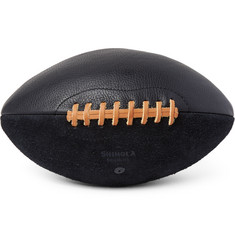 Shinola Full-Grain Leather and Suede American Football