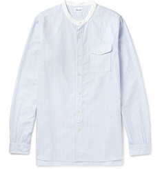 Chimala Grandad-Collar Striped Cotton Oxford Shirt