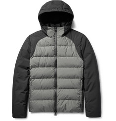 Herno Laminar Two-Tone Quilted GORE Windstopper® Hooded Down Jacket